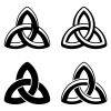 vector Celtic knot black white symbols