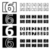 vector square contour numbers font