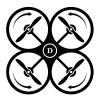 vector drone quadcopter direction of rotation black symbol