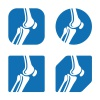 vector human knee joint icons