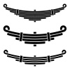 vector vehicle leaf spring black symbols