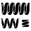 vector tension spring seamless black symbols