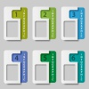 vector paper rectangle infographic options
