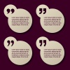 EPS10 vector paper quotation mark circle frames