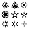 vector black star arrow symbols