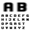 EPS10 vector speed motion blur font alphabet letters