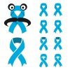 vector blue ribbon - prostate cancer symbol
