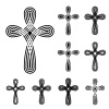 vector christian cross ornamental knot symbol