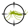 vector crosshair focused mosquito symbol