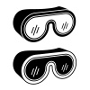 vector goggles safety glasses black symbol