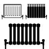 vector central heating radiator black symbols