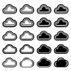 vector sky cloud black symbols