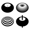 magnetic field toroid black symbol vector