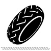 motorbike tire black symbol vector