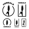 cereal ear black symbol vector