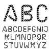 arrow strip font alphabet letters vector