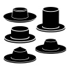 hat black icon vector