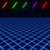 glowing perspective floor - easy to change color EPS10 vector