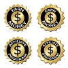 golden earn money affiliate program label vector