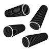 3d industrial pipes black symbol vector