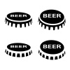 beer bottle cap black symbol vector