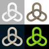 triple linked chain cooperation symbol vector