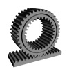 3D rack pinion spur gear wheel cogwheel vector
