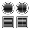 ventilation grille black symbol vector