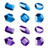 mineral crystal stone blue magenta vector