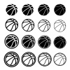 basketball ball black symbol vector