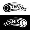tennis ball motion line symbol vector