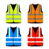 reflective road industry safety vest vector