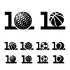 10 years sport ball anniversary vector