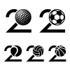 20 years sport ball anniversary vector