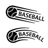 baseball ball motion line symbol vector