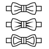 vector bow tie black line symbols