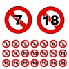 age limit notice warning red ban sign vector