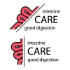 intestine half cut symbol vector