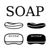 soap black simple shape vector