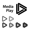 media play black symbol vector