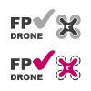 FPV drone check mark symbol vector