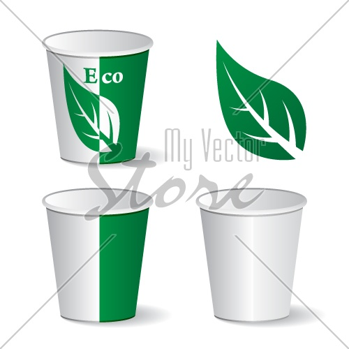 vector eco paper cups