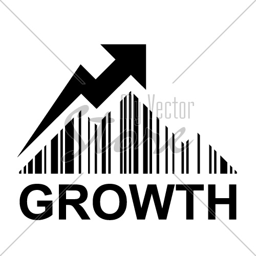 EAN barcode mountain growth profit symbol vector
