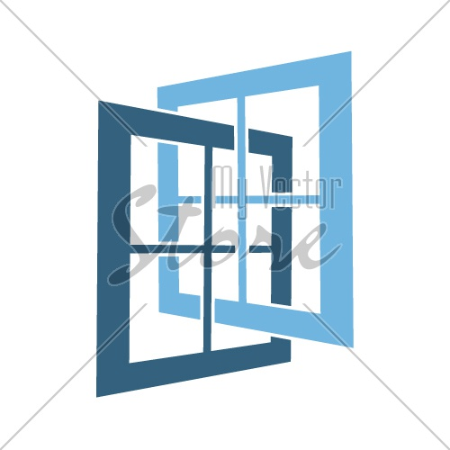 abstract open window simple symbol vector