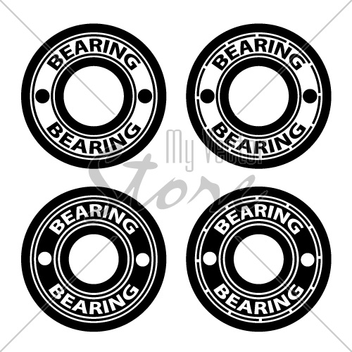 radial ball bearing black symbol vector