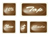vector Set of brown square labels
