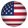 vector sphere USA flag