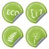 vector scratched eco stickers