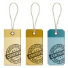 vector natural cardboard tags