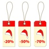 vector christmas cardboard tags